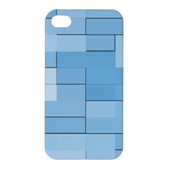 Blue Squares Iphone 5 Wallpaper Apple Iphone 4/4s Hardshell Case by BangZart