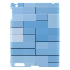Blue Squares Iphone 5 Wallpaper Apple Ipad 3/4 Hardshell Case