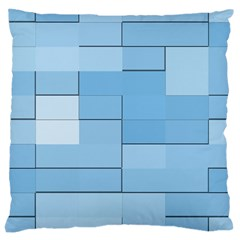 Blue Squares Iphone 5 Wallpaper Large Cushion Case (one Side)