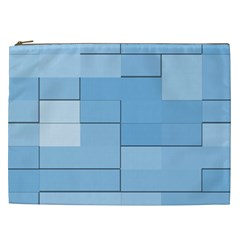 Blue Squares Iphone 5 Wallpaper Cosmetic Bag (xxl)  by BangZart