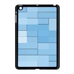 Blue Squares Iphone 5 Wallpaper Apple Ipad Mini Case (black)