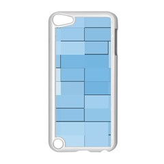 Blue Squares Iphone 5 Wallpaper Apple Ipod Touch 5 Case (white) by BangZart