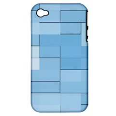 Blue Squares Iphone 5 Wallpaper Apple Iphone 4/4s Hardshell Case (pc+silicone) by BangZart