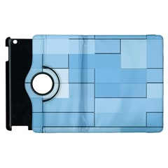 Blue Squares Iphone 5 Wallpaper Apple Ipad 2 Flip 360 Case by BangZart