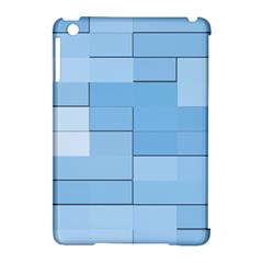 Blue Squares Iphone 5 Wallpaper Apple iPad Mini Hardshell Case (Compatible with Smart Cover) by BangZart