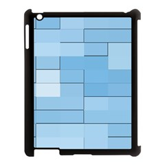 Blue Squares Iphone 5 Wallpaper Apple Ipad 3/4 Case (black) by BangZart