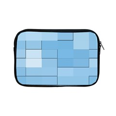 Blue Squares Iphone 5 Wallpaper Apple Ipad Mini Zipper Cases by BangZart