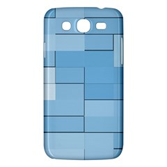 Blue Squares Iphone 5 Wallpaper Samsung Galaxy Mega 5 8 I9152 Hardshell Case  by BangZart