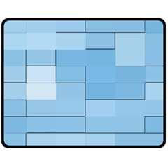Blue Squares Iphone 5 Wallpaper Double Sided Fleece Blanket (medium)  by BangZart