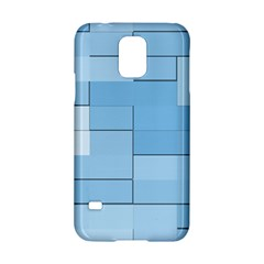 Blue Squares Iphone 5 Wallpaper Samsung Galaxy S5 Hardshell Case  by BangZart