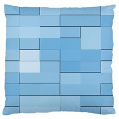 Blue Squares Iphone 5 Wallpaper Large Flano Cushion Case (two Sides) by BangZart