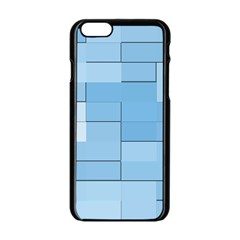 Blue Squares Iphone 5 Wallpaper Apple Iphone 6/6s Black Enamel Case by BangZart