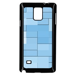 Blue Squares Iphone 5 Wallpaper Samsung Galaxy Note 4 Case (black)