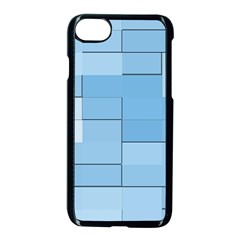 Blue Squares Iphone 5 Wallpaper Apple Iphone 7 Seamless Case (black)
