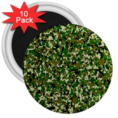 Camo Pattern 3  Magnets (10 Pack)