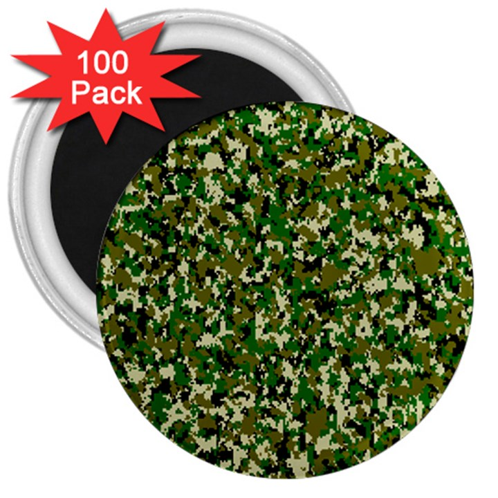Camo Pattern 3  Magnets (100 pack)