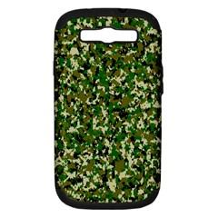 Camo Pattern Samsung Galaxy S Iii Hardshell Case (pc+silicone)