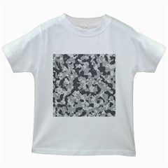 Camouflage Patterns Kids White T Shirts by BangZart