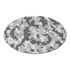 Camouflage Patterns Oval Magnet by BangZart