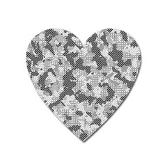Camouflage Patterns Heart Magnet by BangZart