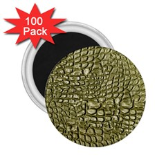 Aligator Skin 2 25  Magnets (100 Pack)  by BangZart