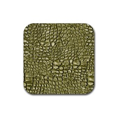 Aligator Skin Rubber Square Coaster (4 Pack)  by BangZart