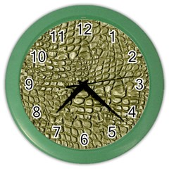 Aligator Skin Color Wall Clocks by BangZart
