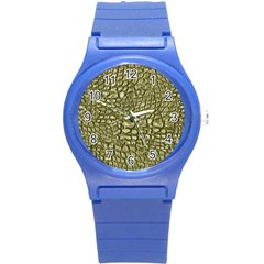 Aligator Skin Round Plastic Sport Watch (s) by BangZart