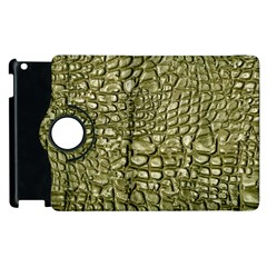 Aligator Skin Apple Ipad 2 Flip 360 Case by BangZart