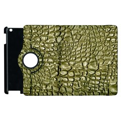 Aligator Skin Apple Ipad 3/4 Flip 360 Case by BangZart