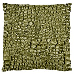 Aligator Skin Large Flano Cushion Case (one Side)