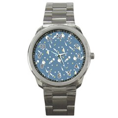 Space Rockets Pattern Sport Metal Watch by BangZart