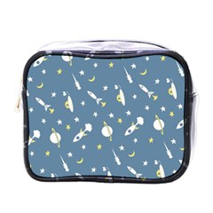 Space Rockets Pattern Mini Toiletries Bags by BangZart