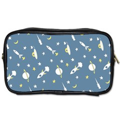 Space Rockets Pattern Toiletries Bags 2 Side by BangZart