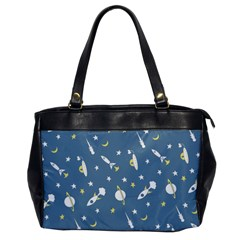 Space Rockets Pattern Office Handbags by BangZart