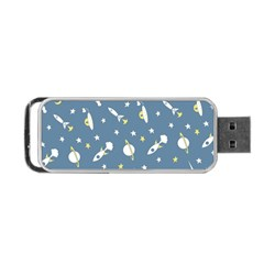 Space Rockets Pattern Portable Usb Flash (one Side) by BangZart