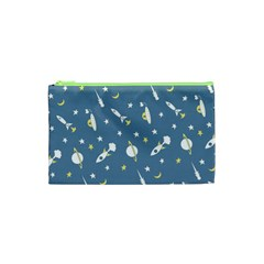Space Rockets Pattern Cosmetic Bag (xs)