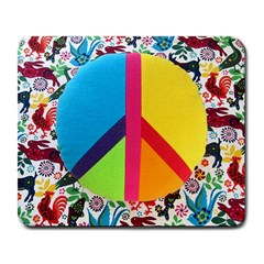 Peace Sign Animals Pattern Large Mousepads