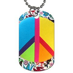 Peace Sign Animals Pattern Dog Tag (two Sides)