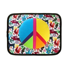 Peace Sign Animals Pattern Netbook Case (small)  by BangZart
