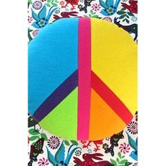 Peace Sign Animals Pattern 5 5  X 8 5  Notebooks by BangZart