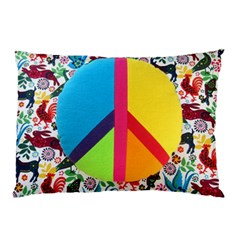 Peace Sign Animals Pattern Pillow Case (two Sides)