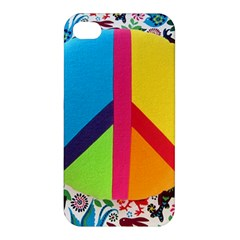 Peace Sign Animals Pattern Apple Iphone 4/4s Hardshell Case