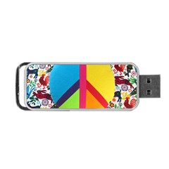 Peace Sign Animals Pattern Portable Usb Flash (two Sides) by BangZart