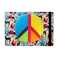 Peace Sign Animals Pattern Apple Ipad Mini Flip Case