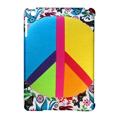 Peace Sign Animals Pattern Apple Ipad Mini Hardshell Case (compatible With Smart Cover) by BangZart
