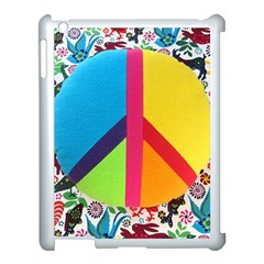 Peace Sign Animals Pattern Apple Ipad 3/4 Case (white)