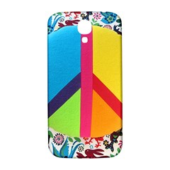 Peace Sign Animals Pattern Samsung Galaxy S4 I9500/i9505  Hardshell Back Case