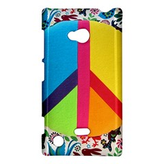 Peace Sign Animals Pattern Nokia Lumia 720 by BangZart