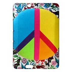 Peace Sign Animals Pattern Kindle Fire Hdx Hardshell Case by BangZart